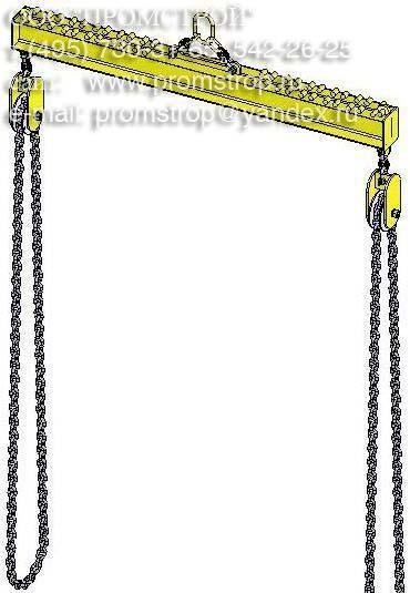 Схема строповки Траверсой для