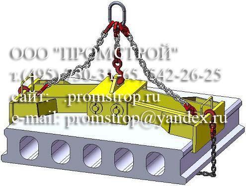 Схема строповки плиты Клещевым